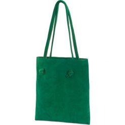 Torebki klasyczne damskie: Woox Torebka Damska Worek 100% Skóra Naturalna | Handmade | Zielona Tegula Simplex Euchlora –          –          – 8595564783381
