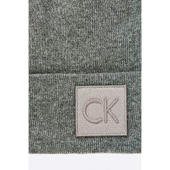 Calvin Klein Jeans - Czapka. Czarne czapki zimowe męskie Calvin Klein Jeans, na zimę, z dzianiny. W wyprzedaży za 129,90 zł.
