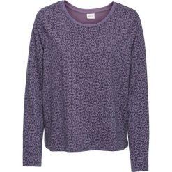 Bluzy damskie: Bluza dresowa, długi rękaw bonprix matowy lila – nocny niebieski