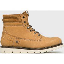 Wrangler - Buty Tucson. Brązowe buty skate męskie Wrangler, z materiału, na sznurówki. Za 449,90 zł.