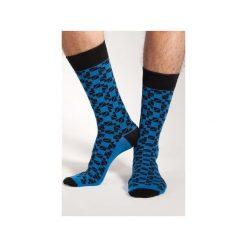 Chabrowa mozaika - wizytowe skarpetki Spox Sox. Niebieskie krawaty męskie Spox sox. Za 25,00 zł.