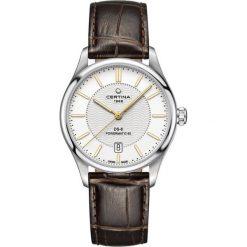 PROMOCJA ZEGAREK CERTINA DS 8 Powermatic 80 C033.407.16.031.00. Białe, analogowe zegarki męskie marki CERTINA, szklane. W wyprzedaży za 2481,60 zł.