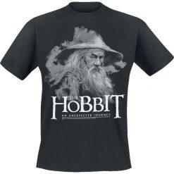 Hobbit Gandalf T-Shirt czarny. Czarne t-shirty męskie z nadrukiem Hobbit, xxl, z okrągłym kołnierzem. Za 74,90 zł.