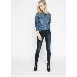 Levi's - Jeansy 710. Brązowe jeansy damskie marki Levi's®, z bawełny, z obniżonym stanem. W wyprzedaży za 239,90 zł.