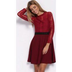 Bordowa Sukienka Emotionless. Czerwone sukienki hiszpanki Born2be, s, mini. Za 69,99 zł.