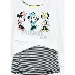 Blukids - Bluza + top dziecięcy Disney Minnie Mouse 98-128 cm. Szare bluzki dziewczęce bawełniane marki Blukids, z motywem z bajki, z asymetrycznym kołnierzem. W wyprzedaży za 59,90 zł.
