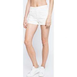 Missguided - Szorty. Szare szorty damskie marki Missguided, z bawełny, casualowe, z podwyższonym stanem. W wyprzedaży za 49,90 zł.
