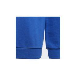 Bluzy Dziecko adidas  Bluza z zaokrąglonym dekoltem Trefoil. Niebieskie bluzy dziewczęce rozpinane Adidas. Za 179,00 zł.