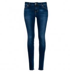 Mustang Jeansy Damskie Jasmin Jeggins 28/32 Ciemnoniebieski. Niebieskie jeansy damskie marki Mustang, z aplikacjami, z bawełny. Za 400,00 zł.