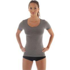 Bluzki sportowe damskie: Brubeck Koszulka damska z krótkim rękawem COMFORT WOOL szara r. XL (SS11020)