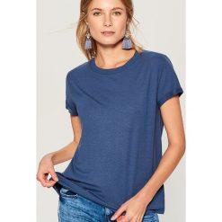 Koszulka oversize - Niebieski. Niebieskie t-shirty damskie Mohito, l. Za 29,99 zł.