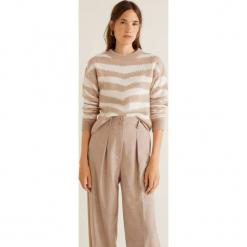 Mango - Sweter Zebra. Różowe swetry klasyczne damskie Mango, l, z dzianiny, z okrągłym kołnierzem. Za 159,90 zł.