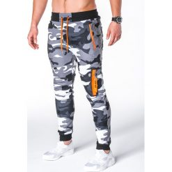 Spodnie męskie: SPODNIE MĘSKIE DRESOWE P658 – SZARE/MORO