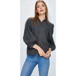 Vila - Koszula Bista. Szare koszule wiązane damskie Vila, z bawełny, casualowe, z klasycznym kołnierzykiem, z długim rękawem. W wyprzedaży za 99,90 zł.