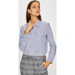 Scotch & Soda - Koszula. Szare koszule damskie marki Scotch & Soda, l, z aplikacjami, z bawełny, casualowe, z klasycznym kołnierzykiem, z długim rękawem. W wyprzedaży za 339,90 zł.