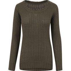 RED by EMP Long Wideneck Sweater Sweter damski oliwkowy. Zielone swetry klasyczne damskie RED by EMP, m, z dzianiny. Za 144,90 zł.