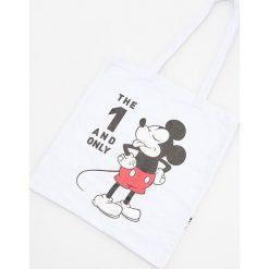 Bawełniana torba Mickey Mouse - Biały. Białe torebki klasyczne damskie Reserved, z motywem z bajki, z bawełny. Za 29,99 zł.