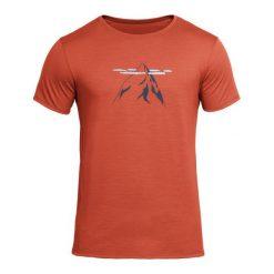 Odzież termoaktywna męska: Devold Męska Koszulka Nipa Tee Ceglany S