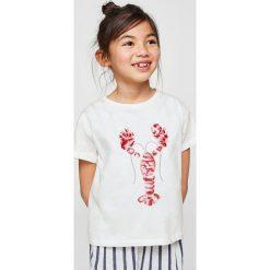 Bluzki dziewczęce bawełniane: Mango Kids - Top dziecięcy Ocean 110-164 cm