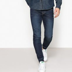 Dżinsy z dzianiny. Niebieskie spodnie dresowe męskie La Redoute Collections, z bawełny. Za 146,96 zł.