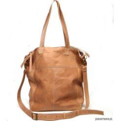 Torebki i plecaki damskie: Kamelowa skórzana torba 01