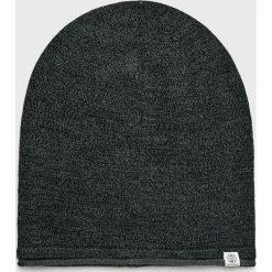 Tom Tailor Denim - Czapka. Czarne czapki zimowe męskie TOM TAILOR DENIM, z bawełny. W wyprzedaży za 59,90 zł.