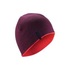Czapka narciarska REVERSE. Fioletowe czapki damskie marki WED'ZE, na zimę, z dzianiny. Za 11,99 zł.