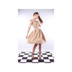Sukienka Forma cappuccino. Brązowe sukienki na komunię Kozacki Mops, m, z tkaniny, rozkloszowane. Za 199,00 zł.