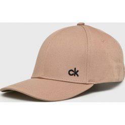 Calvin Klein - Czapka. Szare czapki z daszkiem męskie marki Calvin Klein, z bawełny. Za 119,90 zł.