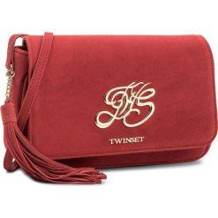 Torebka TWINSET - Tracolla OS8TEA Rubino 00045. Czerwone listonoszki damskie marki Reserved, duże. W wyprzedaży za 529,00 zł.