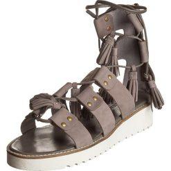 """Rzymianki damskie: Skórzane sandały """"Celia"""" w kolorze szarobrązowym"""