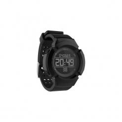 Zegarek do biegania W700xc M męski. Czarne zegarki męskie marki KALENJI, ze stali. Za 79,99 zł.