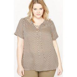 Bluzki damskie: Szeroka bluzka z krótkim rękawem