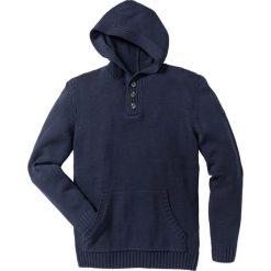Swetry męskie: Sweter z kapturem Slim Fit bonprix ciemnoniebieski