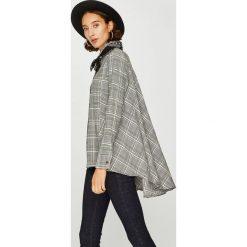 Answear - Koszula. Szare koszule damskie w kratkę marki ANSWEAR, l, z bawełny, z długim rękawem. W wyprzedaży za 139,90 zł.