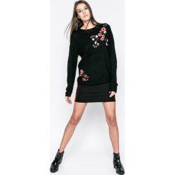 Answear - Sweter Blossom Mood. Szare swetry klasyczne damskie marki ANSWEAR, l, z dzianiny, z okrągłym kołnierzem. W wyprzedaży za 79,90 zł.