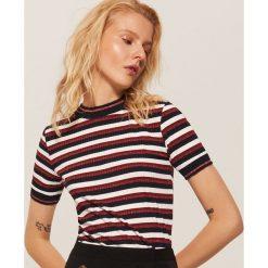 Koszulka w paski - Paski. Szare t-shirty damskie marki House, l, w paski. Za 59,99 zł.