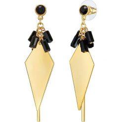 Biżuteria i zegarki: Pozłacane kolczyki-wkrętki z kryształkami