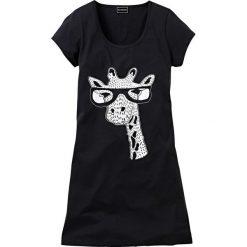 Koszula nocna z motywem zwierzątka bonprix czarny z nadrukiem. Czarne koszule nocne i halki bonprix, z nadrukiem. Za 34,99 zł.