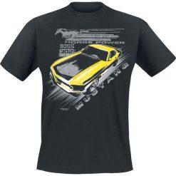 T-shirty męskie: Ford Mustang Vintage Yellow Boss T-Shirt czarny