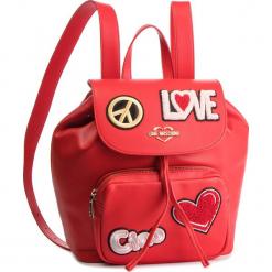 Plecak LOVE MOSCHINO - JC4082PP17LJ0500 Rosso. Czerwone plecaki damskie Love Moschino, ze skóry ekologicznej. Za 959,00 zł.