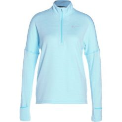 Nike Performance RUNNING THERMA SPHERE Koszulka sportowa polarized blue/heather/silver. Niebieskie t-shirty damskie Nike Performance, s, z elastanu, z długim rękawem. W wyprzedaży za 224,25 zł.