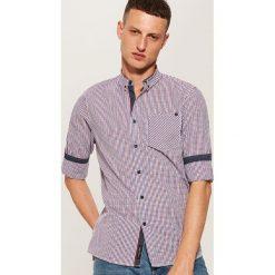 Koszula slim fit z kieszonką - Wielobarwn. Szare koszule męskie slim marki House, l. Za 79,99 zł.