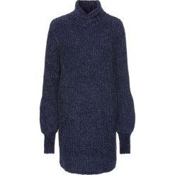 Sukienka dzianinowa z szenili: must have bonprix ciemnoniebieski. Niebieskie sukienki dzianinowe bonprix. Za 109,99 zł.