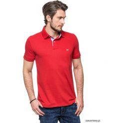 Koszulki męskie: Koszulka polo czerwona z jeansem