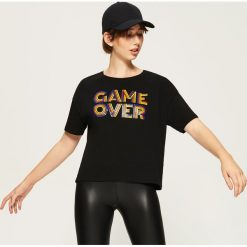 Bluzki, topy, tuniki: T-shirt Game over - Czarny
