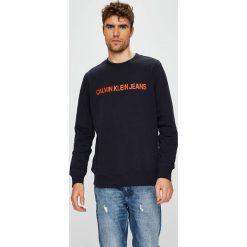 Calvin Klein Jeans - Bluza. Czarne bejsbolówki męskie Calvin Klein Jeans, l, z nadrukiem, z bawełny, bez kaptura. Za 359,90 zł.