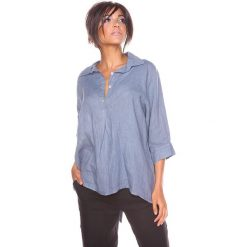 """Bluzki asymetryczne: Lniana bluzka """"Aria"""" w kolorze szarym"""