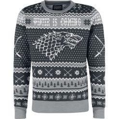 Gra o Tron Winter Is Coming Sweter szary. Szare swetry klasyczne męskie Gra o Tron, xl. Za 264,90 zł.