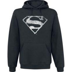 Superman Distressed Logo Bluza z kapturem czarny. Czarne bejsbolówki męskie Superman, m, z motywem z bajki, z kapturem. Za 114,90 zł.
